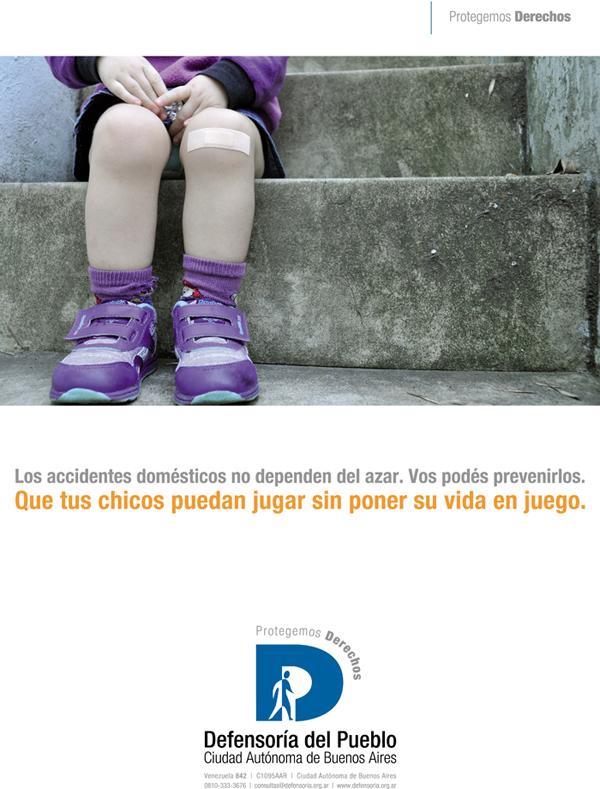 Afiche de la campaña de difusión de la Defensoría del Pueblo de la Ciudad Autónoma de Buenos Aires por el Día del Niño.