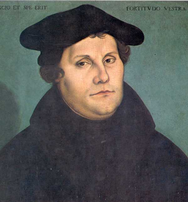 Retrato de Martín Lutero según Lucas Cranach.