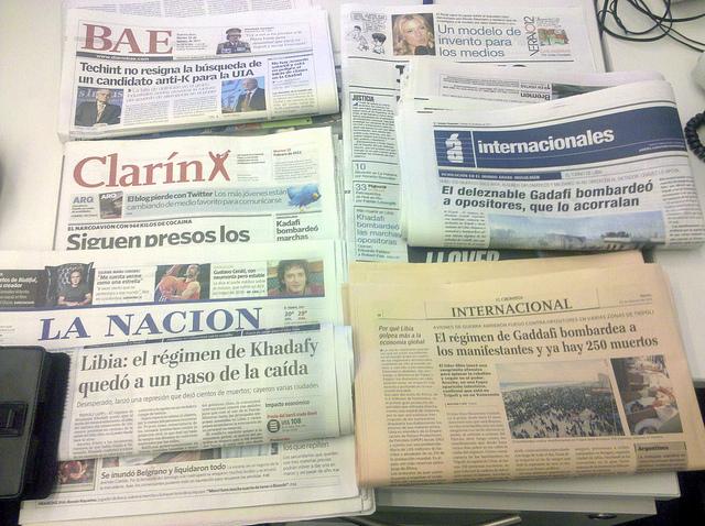 Prensa gráfica Diarios de Buenos Aires del 22 de febrero de 2011.