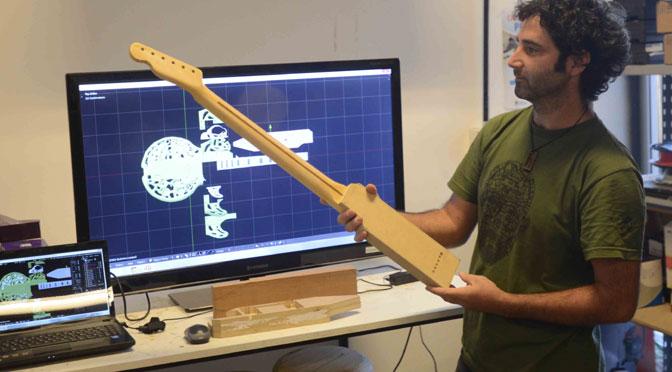 Guitarra vas a lloraren una impresora 3D