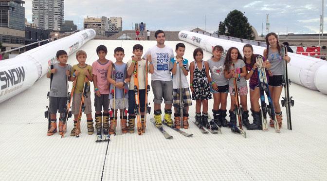 Ski y snowboard en verano en la Rural de Palermo