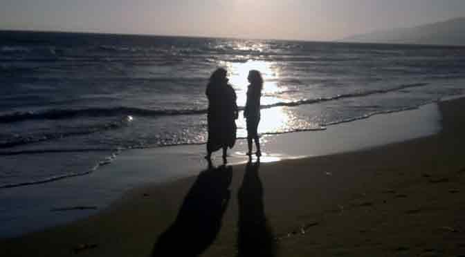 Postales de una tarde en la playa de Malibú