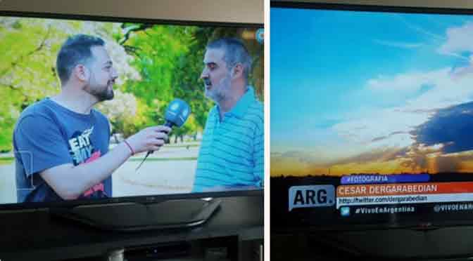 Mis «nubologías» y fotos de atardeceres llegaron a la TV