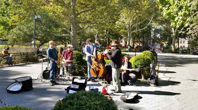 Jazz en Washington Square Park, New York