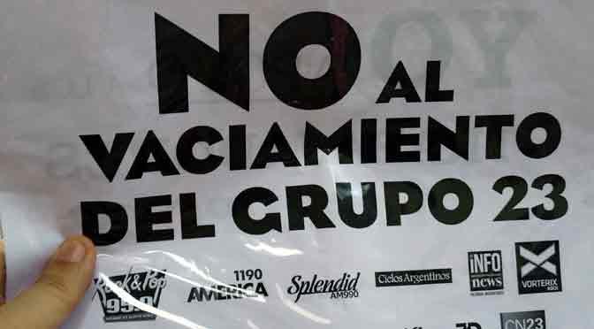Festival solidario de trabajadores contra el vaciamiento del Grupo 23