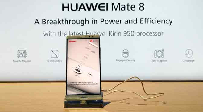 Huawei sale a disputar el liderazgo a Apple y Samsung con un «súper teléfono»: el Mate 8
