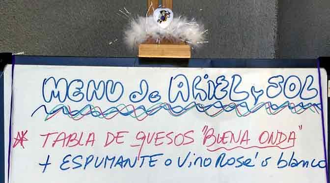 Asado, vinos, música, gatos, espumantes y flores, por Ariel y Marisol