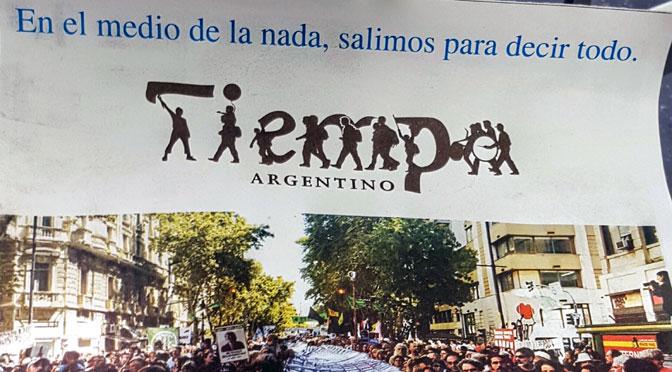 Tiempo Argentino vuelve a la calle en papel