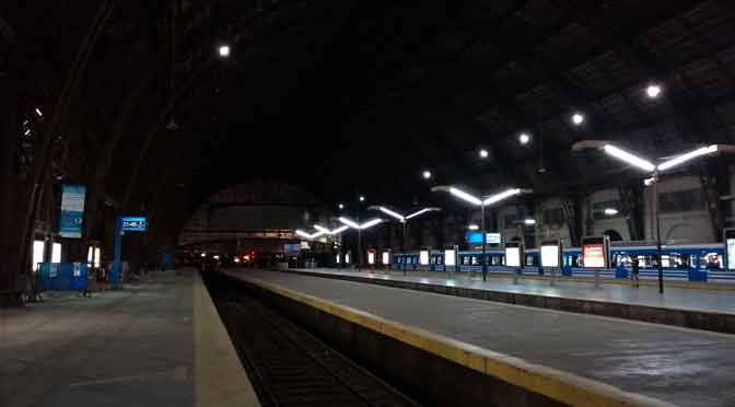 Estación Retiro del tren Mitre, desde un Huawei Mate 8