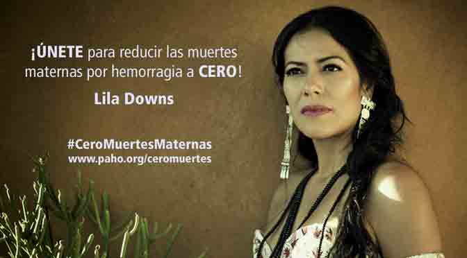 Lila Downs promueve los controles del embarazo y para salvar vidas