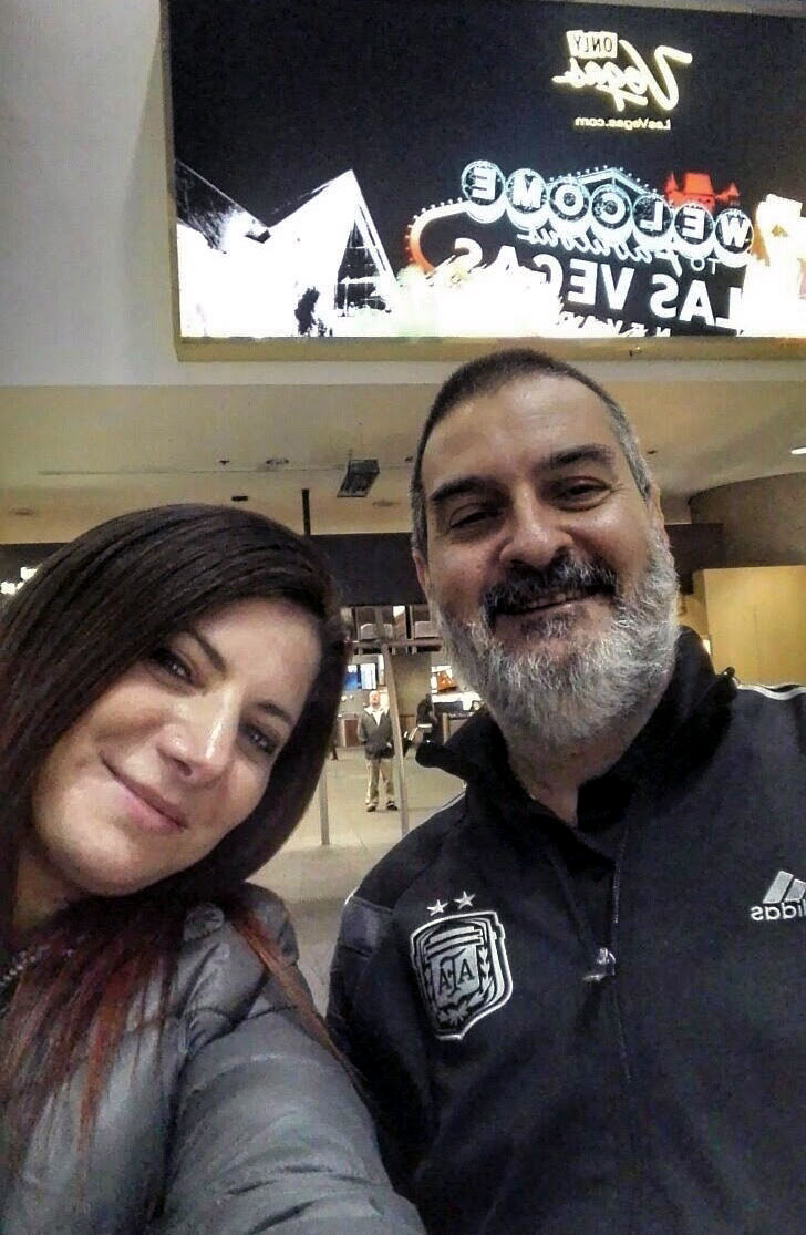 Con Irina Sternik. Las Vegas, EE.UU., enero.