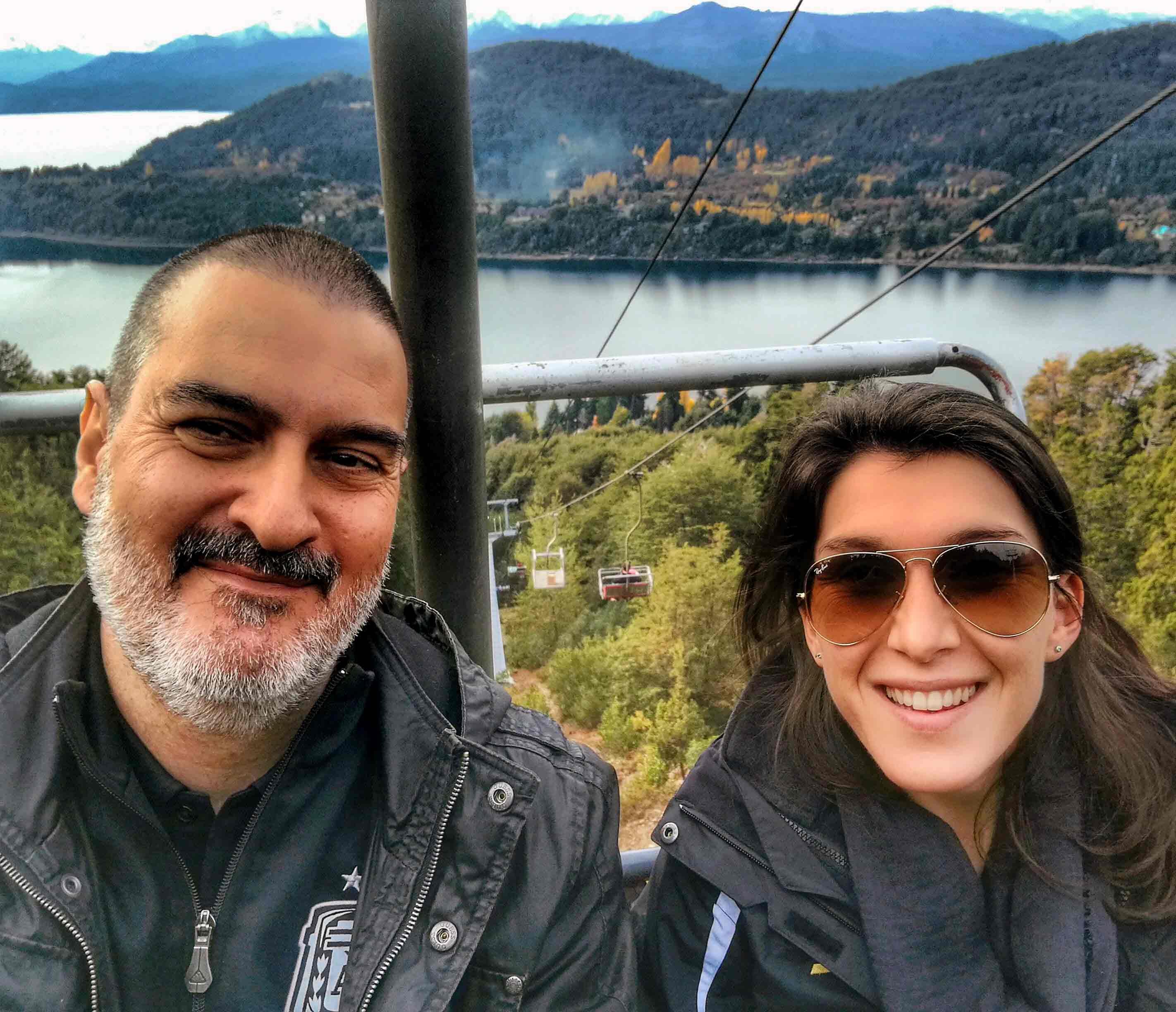 Con Rocío Bravo. Cerro Campanario, San Carlos de Bariloche, Río Negro, mayo.