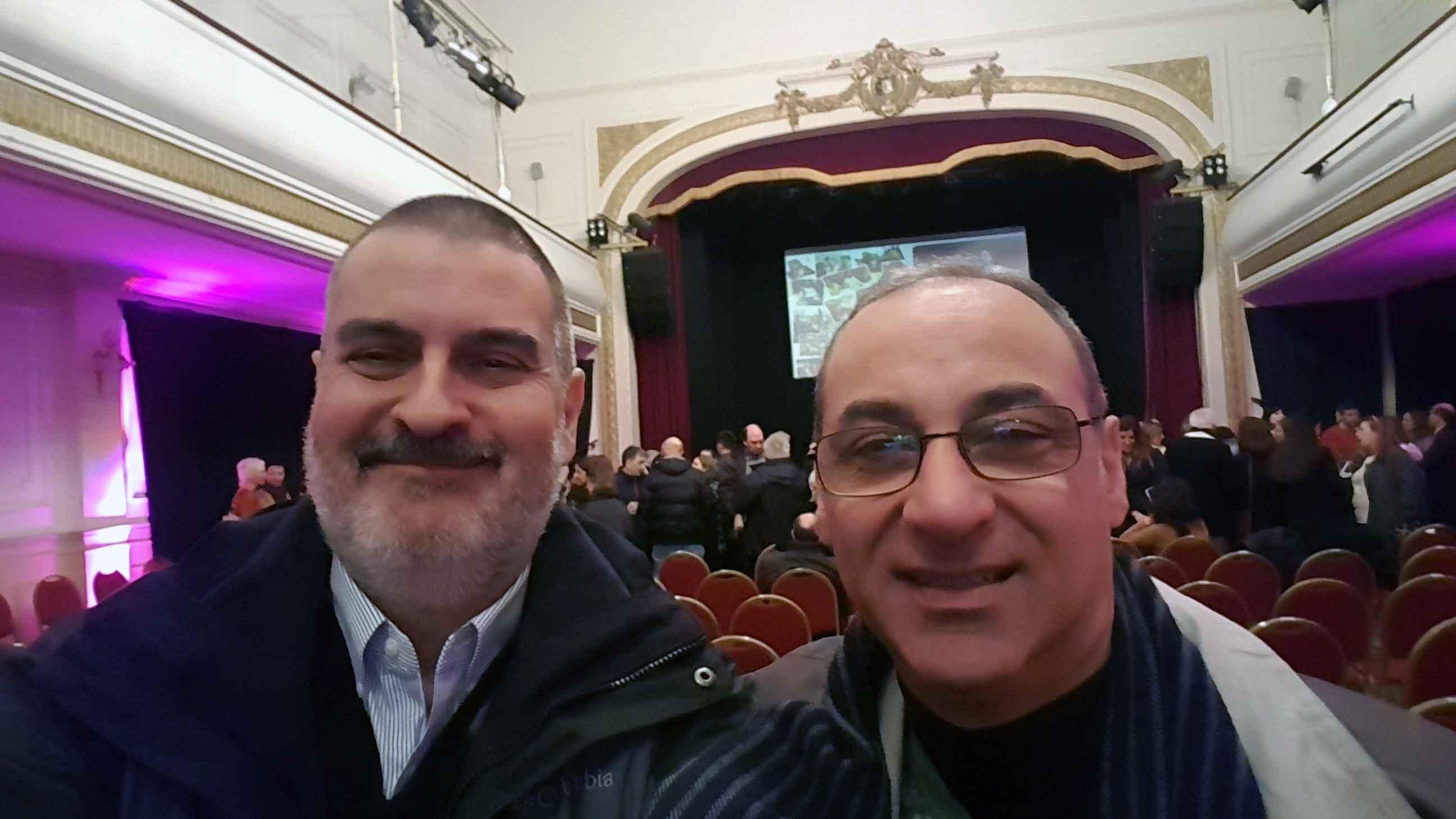 Con Daniel Kabakian. Sala Siranush, Buenos Aires, septiembre.