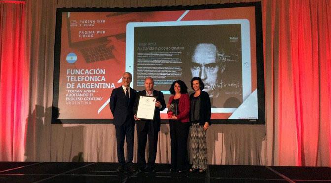 Premio Fundacom para la Fundación Telefónica por su campaña sobre Ferrán Adriá