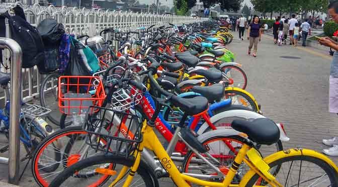 Las bicicletas que se alquilan por el teléfono móvil en China
