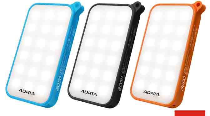 Adata lanza una batería portátil con linterna LED