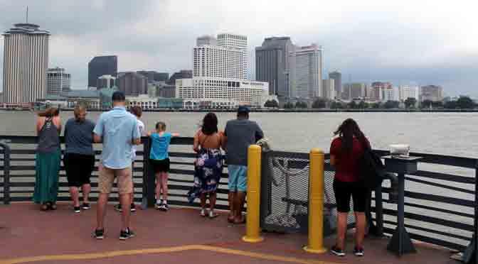 El ferry entre New Orleans y Algiers por el río Misisipi