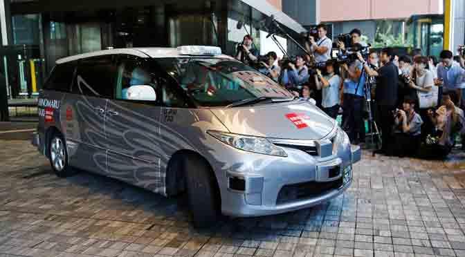 Así funciona el primer taxi autónomo de Japón
