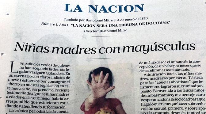 Periodistas de La Nación rechazan su editorial sobre «niñas madres»