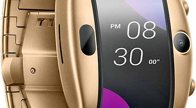 El teléfono móvil flexible que parece un reloj
