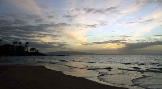 Atardecer epifánico en Wailea, Maui, Hawái