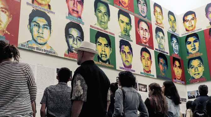 Artista chino recuerda a los desaparecidos de Ayotzinapa
