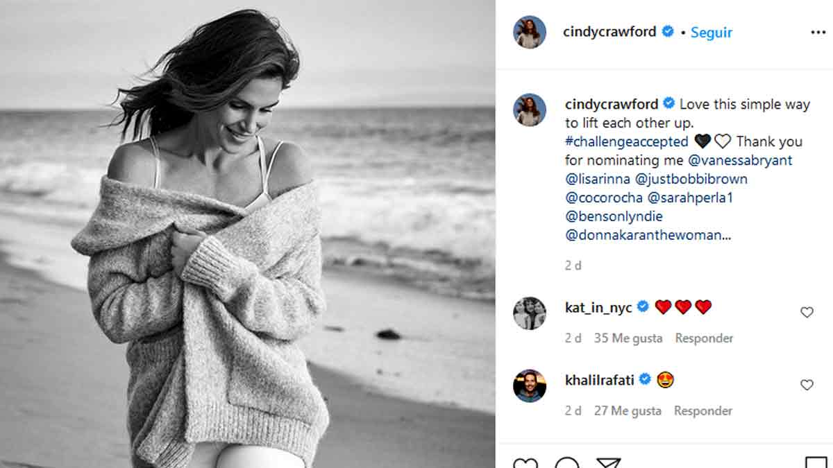 #challengeaccepted de Cindy Crawford