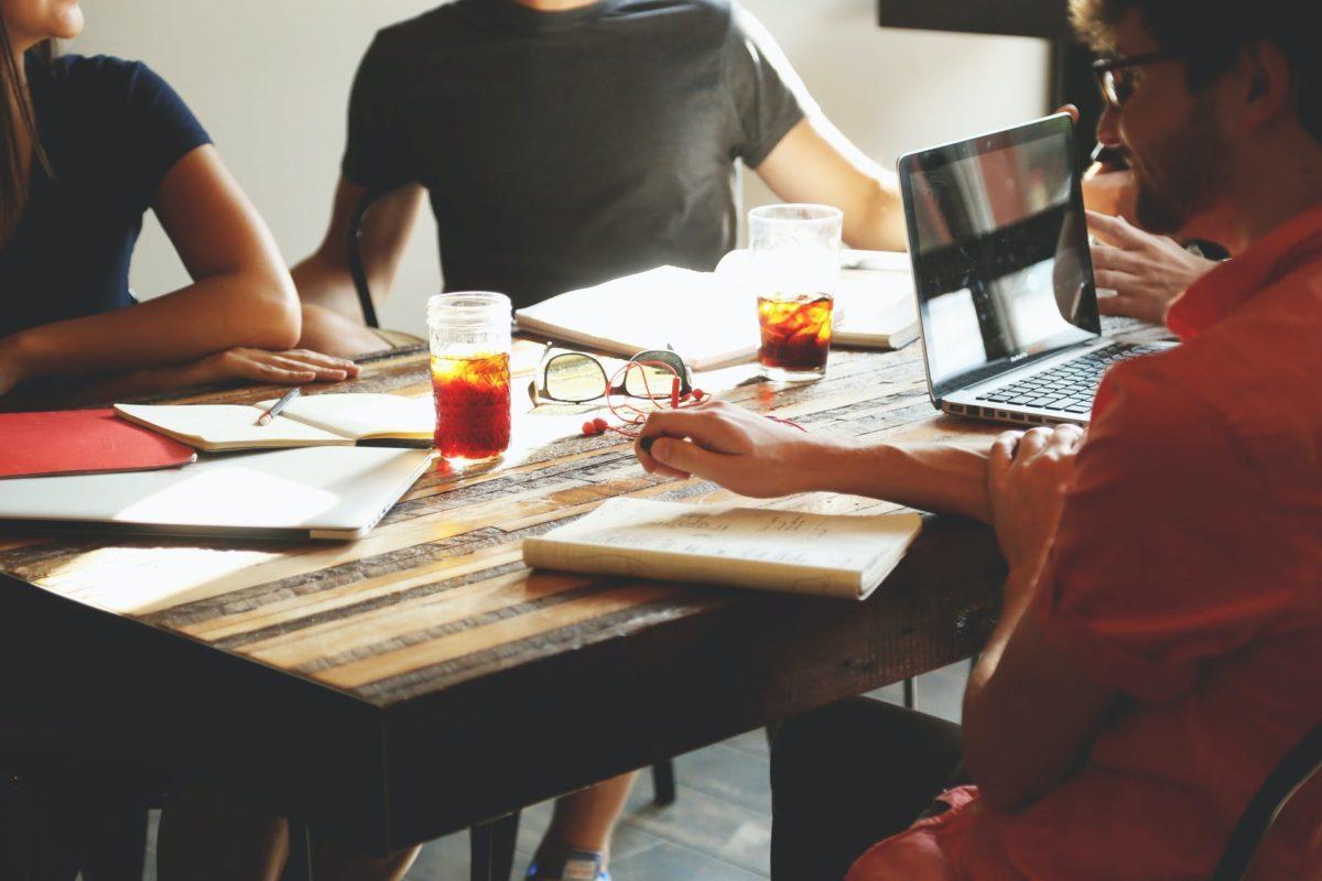 people meeting workspace team