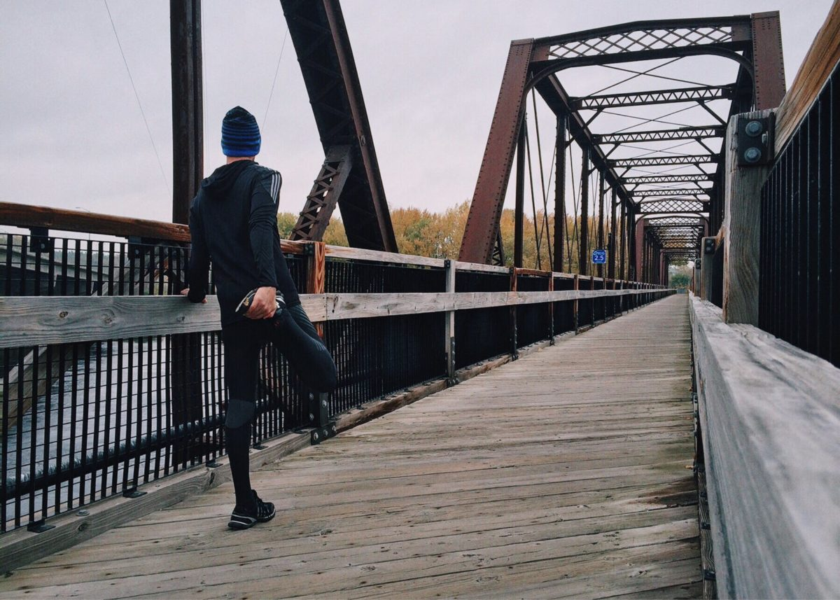 adult architecture athlete boardwalk