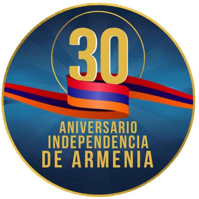 Armenia logotipo por 30° aniversario independencia